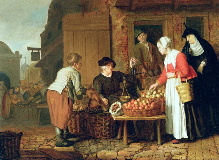 The Fruit Seller | Jan Victors | oil painting