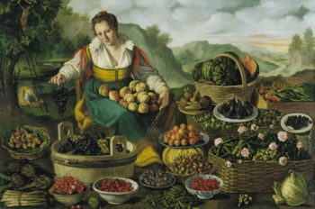 The Fruit Seller | Vincenzo Campi | oil painting
