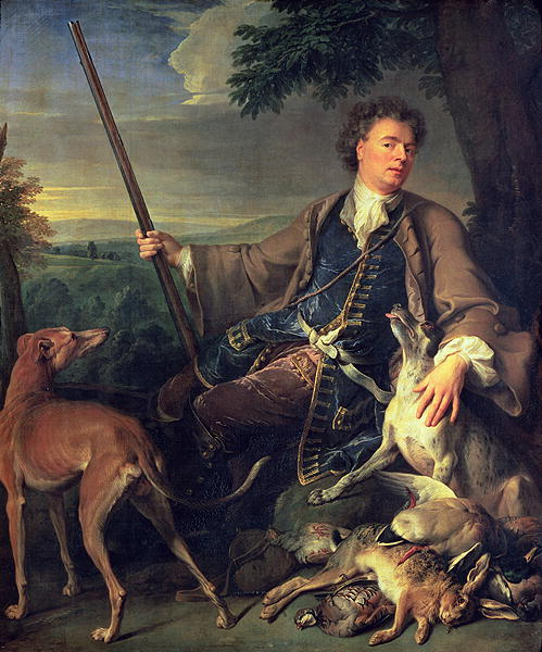 Self Portrait as a Hunter 1699 | Alexandre Francois Desportes | oil painting