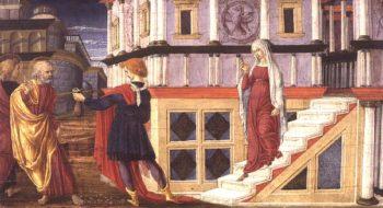 Simon Magus Offering St Peter Money 1470 75 | Liberale da Verona | oil painting