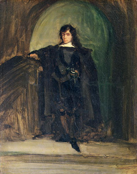 Self Portrait as Hamlet 1821 | Delacroix | oil painting
