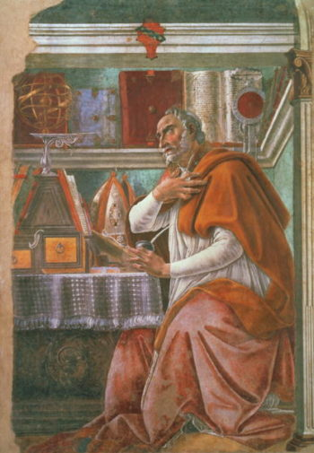 St Augustine in his Cell 1480 | Sandro Botticelli | oil painting