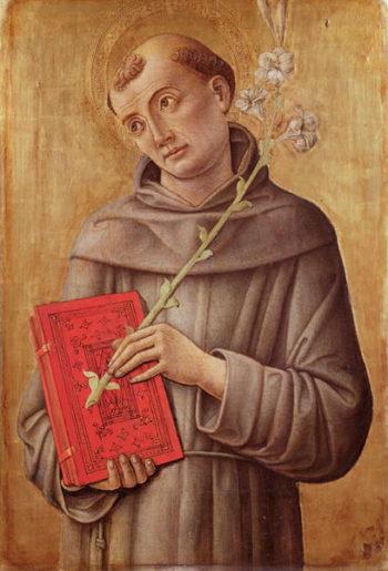 St Anthony of Padua | Bartolomeo Vivarini | oil painting