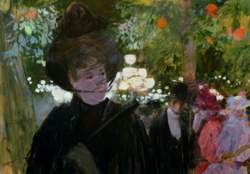The Garden in Paris 1882 | Jean Louis Forain | oil painting