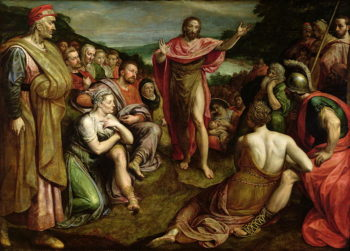 Sermon of St John the Baptist | Frans I Pourbus | oil painting