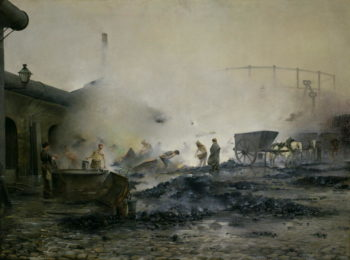 The Gas Factory at Courcelles 1884 | Ernest Jean Delahaye | oil painting