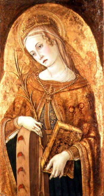 St Catherine of Alexandria | Vittorio Crivelli | oil painting