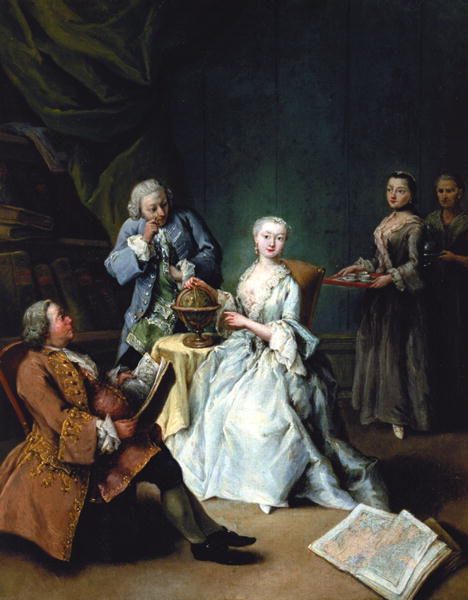 The Geography Lesson   Pietro Longhi   oil painting