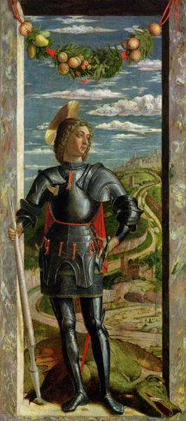 St George and the Dragon 1466 67 | Andrea Mantegna | oil painting
