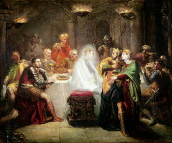 The Ghost of Banquo   Theodore Chasseriau   oil painting