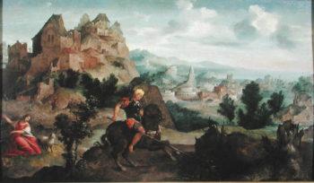 St George and the Dragon | Jan van Scorel | oil painting