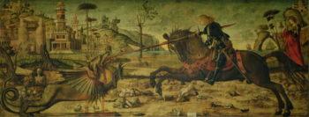 St George Killing the Dragon 1502 07 | Vittore Carpaccio | oil painting