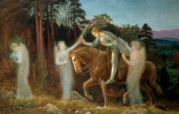 Sir Galahad 1894 | Arthur Hughes | oil painting
