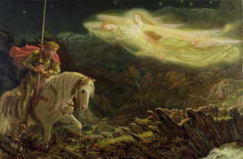 Sir Galahad the Quest of the Holy Grail 1870 | Arthur Hughes | oil painting