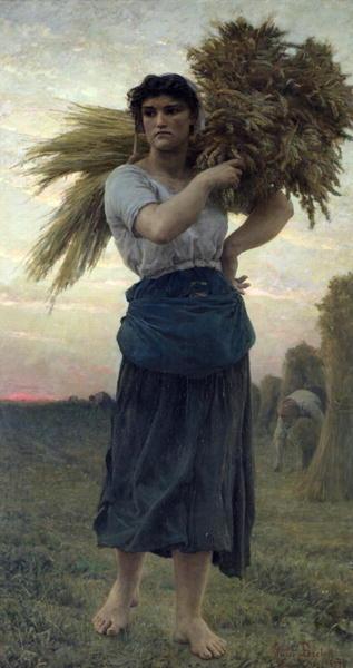 The Gleaner 1877   Jules Breton   oil painting
