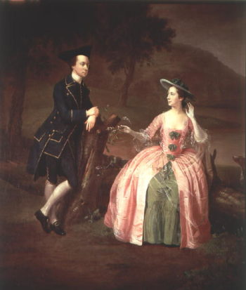 Sir George and Lady Strickland 1751 | Arthur Devis | oil painting