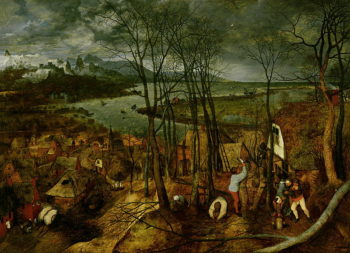 The Gloomy Day Spring 1559 | Pieter the Elder Brueghel | oil painting