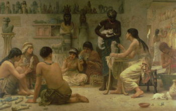 The Gods and Their Makers 1878 | Edwin Longsden Long | oil painting