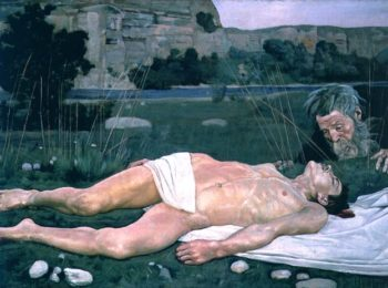 The Good Samaritan 1886 | Ferdinand Hodler | oil painting