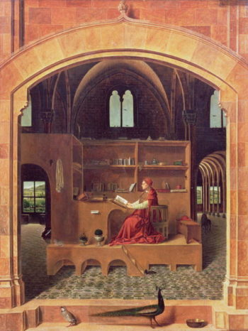 St Jerome in his study 1475 | Antonello da Messina | oil painting