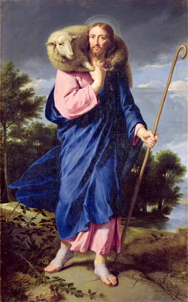 The Good Shepherd 1650 60   Philippe de Champaigne   oil painting