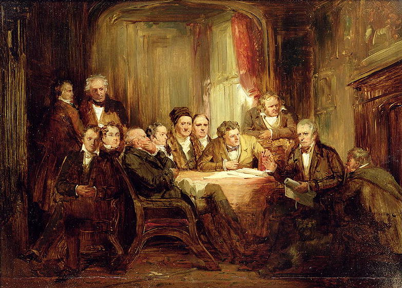 Sir Walter Scott and his Literary Friends at Abbotsford   Thomas Faed   oil painting