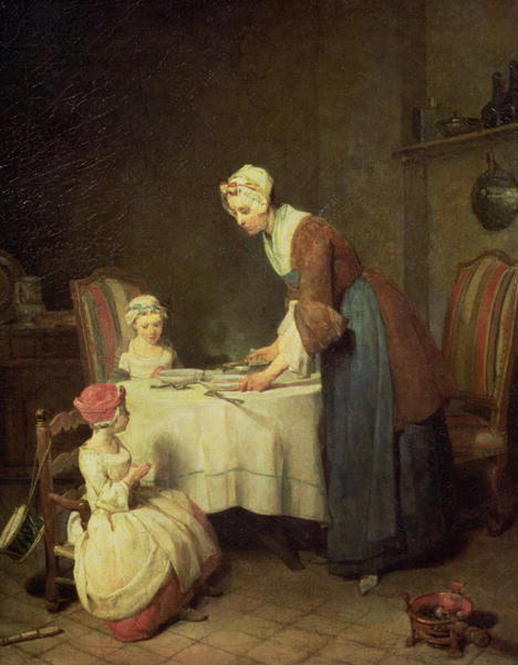 The Grace 1740 | Jean Baptiste Simeon Chardin | oil painting
