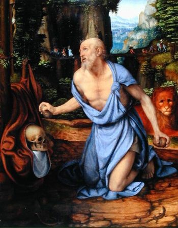 St Jerome in the Wilderness 1510 15 | Andrea Solario | oil painting