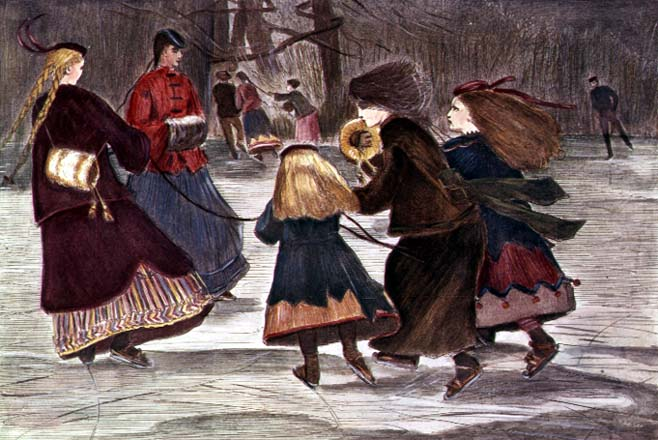 Skating in Winter | Winslow Homer | oil painting