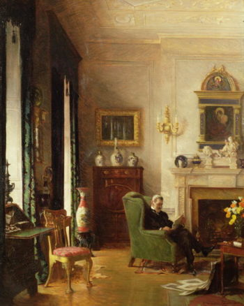 The Grey Drawing Room | Albert Chevallier Tayler | oil painting