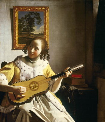 The Guitar Player 1672 | Jan Vermeer | oil painting