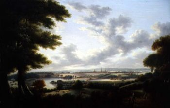 Southampton from Bitterne | Tobias Young | oil painting