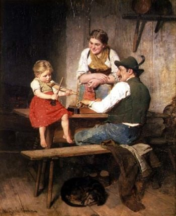 The Happy Family | Adolf Eberle | oil painting
