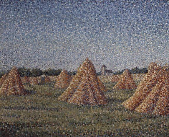 The Harvest 1890 | Charles Angrand | oil painting