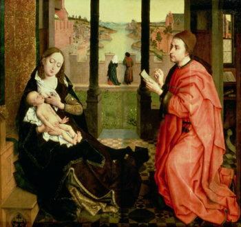 St Luke Drawing a Portrait of the Virgin | Rogier van der Weyden | oil painting