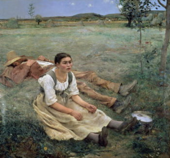The Haymakers 1877 | Jules Bastien Lepage | oil painting