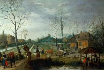 Spring | Sebastian Vrancx | oil painting