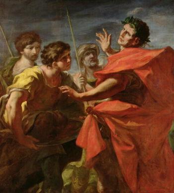 The Head of Pompey   Giovanni Antonio Pellegrini   oil painting