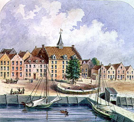 Stadthuys of New York in 1679 1679 | Oram | oil painting