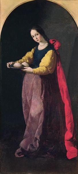 St Agatha | Francisco de Zurbaran | oil painting