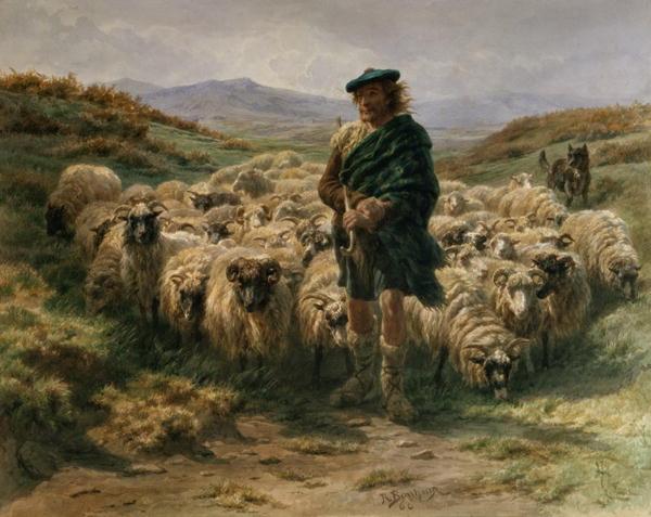 The Highland Shepherd watercolour | Rosa Bonheur | oil painting