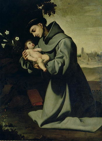 St Anthony of Padua | Francisco de Zurbaran | oil painting