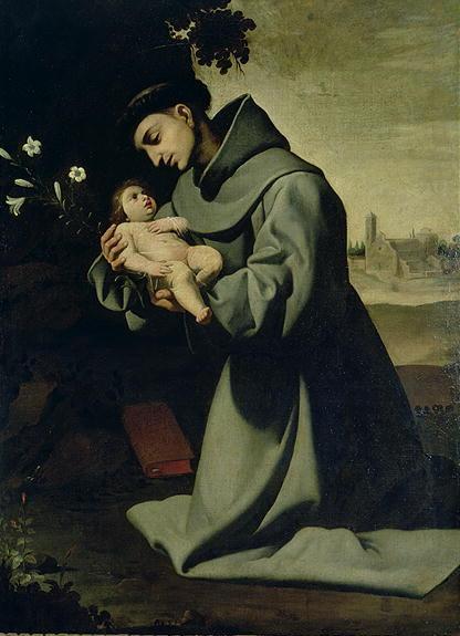 St Anthony of Padua | Francisco de Zurbaran | oil painting