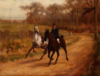 Startled   Thomas Blinks   oil painting