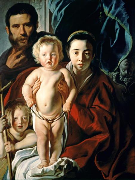The Holy Family with St John the Baptist 1620 25 | Jacob Jordaens | oil painting