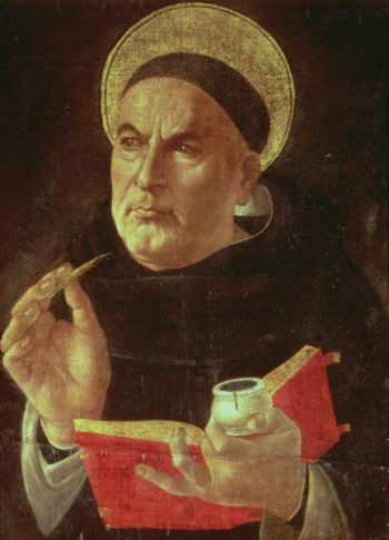 St Thomas Aquinas | Sandro Botticelli | oil painting