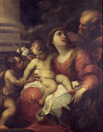 The Holy Family | Valerio Castello | oil painting