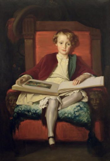 The Hon Frederic Wellesley 1851 | Frederic Leighton | oil painting