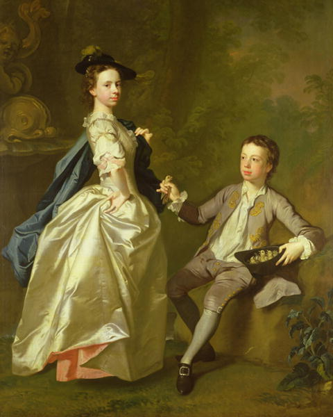 The Hon Rachel Hamilton and her brother the Hon Charles Hamilton 1740 | Allan Ramsay | oil painting