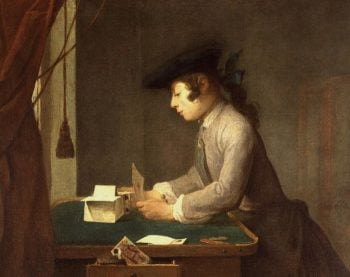The House of Cards | Jean Baptiste Simeon Chardin | oil painting